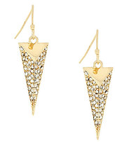 Jessica Simpson Dancing in the Moonlight Pave Arrowhead Drop Earrings