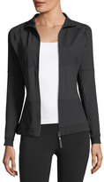 Stella McCartney The Mid-Layer Zip-Front Mix-Knit Performance Jacket