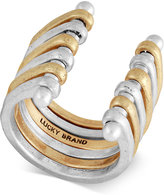Lucky Brand Two-Tone Layered Cuff Ring