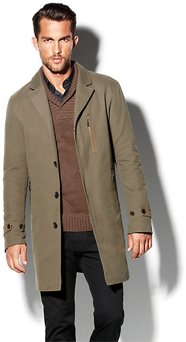 Vince Camuto Mens Trench Coat