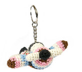 Anne Claire Aeroplane Crochet Keyring - Multi