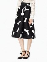Kate Spade Blot dot midi skirt