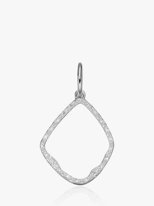 Monica Vinader Riva Hoop Diamond Charm