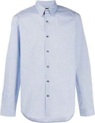 Theory printed Irving shirt