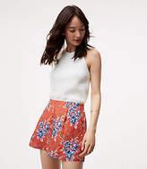 LOFT Petite Floral Pleated Shorts