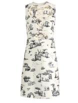 Carven Safari-print cut-out detail dress