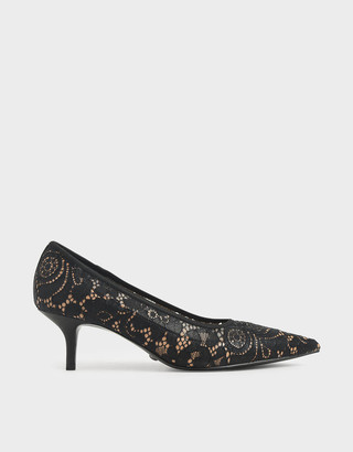 Charles & KeithCharles & Keith Lace Pointed Court Shoes