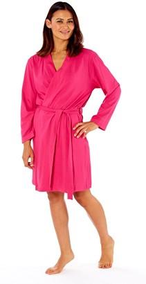 Selena Secrets Womens Soft Jersey Kimono Style Robe Dressing Gown (16-18