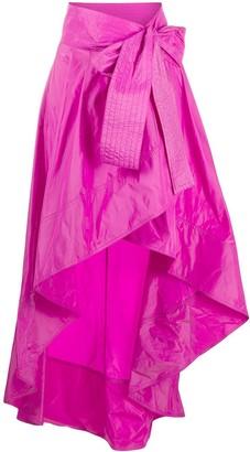 Pinko Ruffled Hem Wrap Skirt