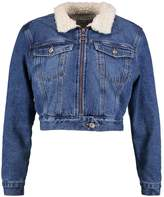 New Look MINDY BORG ZIP THRU Denim jacket mid blue