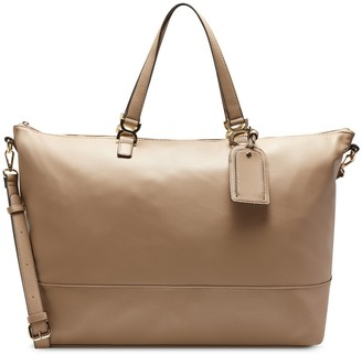 Sole Society Women's Elfie Weekender Vegan Leather In Color: Cognac Bag From