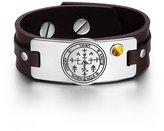 BestAmulets Archangel Uriel Sigil Magic Powers Amulet Tag Tiger Eye Gemstone Adjustable Dark Leather Bracelet