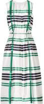 Oscar de la Renta Plaid Silk And Cotton-blend Midi Dress