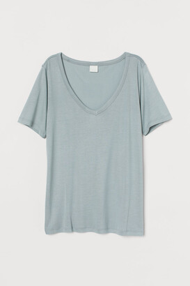 H&M Airy T-shirt - Turquoise