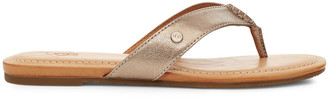 Women's Tuolumne Flat Leather Sandals Silver Size 6 From Sole Society