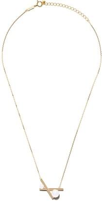 TASAKI 18kt yellow gold Balance cross Akoya pearl pendant necklace