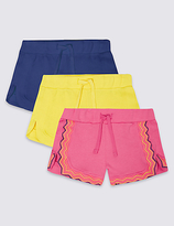 Marks and Spencer 3 Pack Cotton Rich Shorts (3 Months - 5 Years)