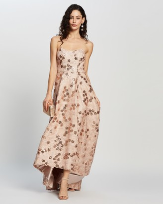 Bariano Alaia Strapless Gown