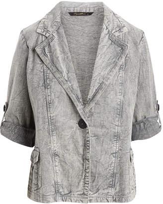 Apt Designs APT Designs Women's Blazers GREY - Gray Denim Blazer - Women