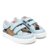 Burberry House Check touch strap sneakers - kids - Leather/Polyester/Foam Rubber - 29