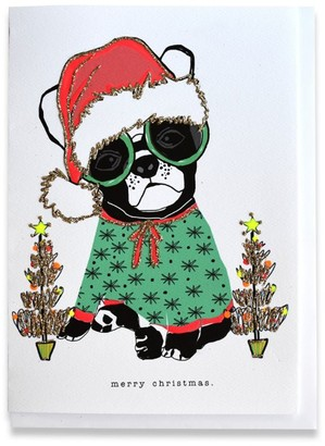 Verrier French Bulldog Christmas Card