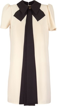 Elisabetta Franchi Celyn B. Boxy Dress With Contrasting Bow