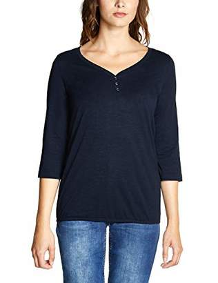 Cecil Women's 313731 Annika T-Shirt, (Deep Blue 10128), X-Large