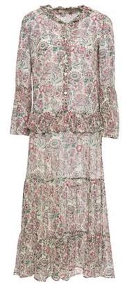Vanessa Bruno Lilas Ruffle-trimmed Floral-print Georgette Midi Dress