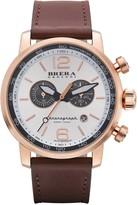 Brera Men's Dinamico Genuine Leather Strap Swiss Made Quartz Watch