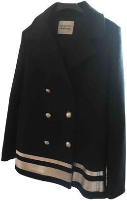 Non Signé / Unsigned Non Signe / Unsigned Black Wool Coats