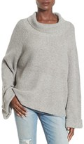Leith Women's Cowl Neck Shaker Pullover