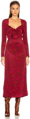 Rebecca De Ravenel Long Sleeve Zaza Dress in Red Combo | FWRD