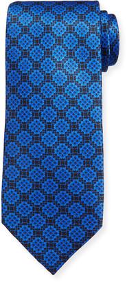 Stefano Ricci Men's Large Medallion Luxe Silk Tie