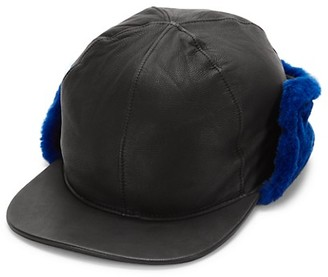 UGG Faux Fur-Lined Shearling Leather Hat