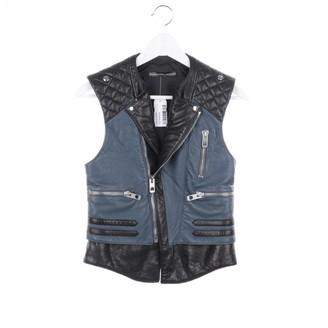 Balenciaga Blue Leather Jackets