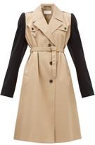 Maison Margiela Wool-sleeve Twill Trench Coat - Womens - Beige