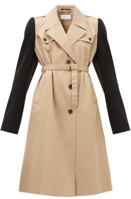 Maison Margiela Wool Sleeve Twill Trench Coat - Womens - Beige