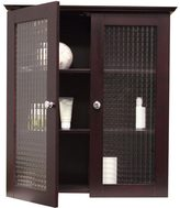 Elegant Home Fashions Windham Wall Cabinet with Two Glass Doors by
