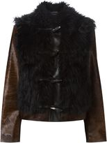 Lanvin toggle fastening jacket - women - Goat Fur/Polyester/Viscose/Calf Hair - 40