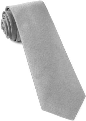 Tie Bar Melange Twist Solid Silver Tie