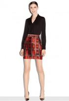 Milly Brushstroke Rectangle Print Modern Mini Skirt