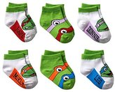 Nickelodeon TMNT Teenage Mutant Ninja Turtle 6-pk Toddler Socks 2T - 4T