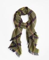 Brooks Brothers Plaid Lightweight Wool Scarf