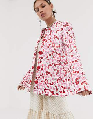 Olga Résumé Resume cherry print jacket-Multi