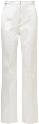 Gabriela Hearst Vesta Cotton And Silk-blend Satin Wide-leg Pants