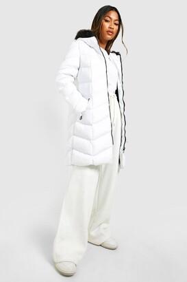 boohoo Faux Fur Hooded Panelled Parka