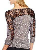 JCPenney Rewind Lace-Back Top
