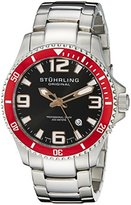 Stuhrling Original Men's Quartz Watch with Black Dial Analogue Display and Silver Stainless Steel Bracelet 395.33TT11