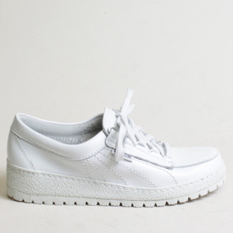 Mephisto White Rubber Lady Shoes - 40   rubber   white - White/White