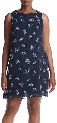 Taylor Dresses Women's Plus Size Cacade Floral Envelope Front Swing Dress